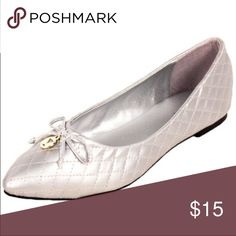 👠 8 & 9 SPRING Quilted Ballet Flat Silver Shoes New & boxed. Ships next day.  Also available in gold metallic and black.  Sorry - no trades! 🎀 Discounts available with bundles🎀 H2K Shoes Flats & Loafers