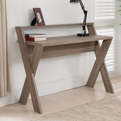 Furniture of America Parker 2 Tier Desk - Create a beautiful workspace all your own with the Furniture of America Parker 2 Tier Desk. Made to last, this modern desk is crafted from wood an...