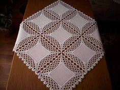 Learn How To Crochet The Sugar Plum Baby - Marecipe Lace Doilies, Crochet Doilies, Crochet Lace, Crochet Borders, Crochet Squares, Crochet Bedspread Pattern, Crochet Patterns, Thread Crochet, Filet Crochet
