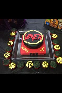 I Love This Cake The Logo Is Done So Perfectly Slayer Is One Of - Slayer birthday cake