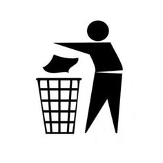 Put Rubbish in Bin Signs by Use the garbage tin sign (black / white), on Garbage In Garbage Out, Recycling, Declutter Your Life, Invitation, Funny True Quotes, Rap Songs, Vector Free Download, Teaching Music, Pictogram