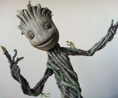 A tiny dancing Groot and all you really need is a dancing flower.