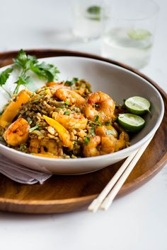 Riz épicé aux crevettes - K pour Katrine Seafood Dishes, Fish And Seafood, Polenta, Gnocchi, Quinoa, Risotto, No Cook Meals, Main Dishes, Food Photography