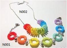 Crochet Necklace by FOLKKORNER on Etsy, $10.00