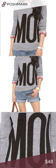 Madewell MOI Sweater Bold 'Moi' lettering adds a graphic element to a marled-knit Madewell sweater. Crew neckline and ribbed edges. Long sleeves.  Fabric: Lightweight marled knit. 100% merino wool. Dry clean. Imported, China.  MEASUREMENTS Length: 25in / 63.5cm, from shoulder Madewell Sweaters Crew & Scoop Necks