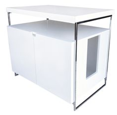 ModernCat Designs Large Litter Box Hider   Glossy White