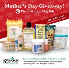 Pin it to Win it! Mother's day giveaway. Free gift pack for your mom (and one for you!)