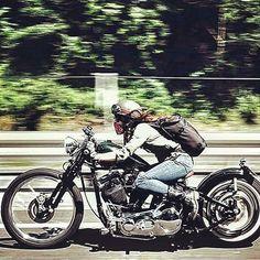 Women Riding Motorcycles, Custom Motorcycles, Custom Bikes, Bobber Motorcycle, Motorcycle Style, Lady Biker, Biker Girl, Virago 535, Er6n