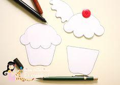 Dicas pra Mamãe: Cupcakes de feltro com passo a passo e moldes