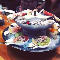 An Instavid of YEW seafood + bar Seafood Tower.