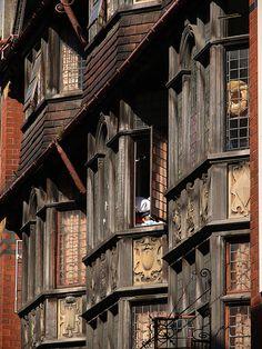 Lovely old bay windows, St Stephen Street, Bristol, England Bristol England, England Uk, City Of Bristol, Bristol Uk, Beautiful Architecture, Architecture Details, Tudor Architecture, Dubai Architecture, British Architecture
