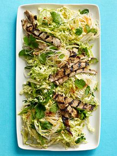 Vietnamese Pork Salad - whoa. Maybe use soba in place of rice noodles?
