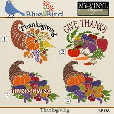 DIGITAL DOWNLOAD ... Thanksgiving Vectors in AI, EPS, GSD, & SVG formats @ My Vinyl Designer #myvinyldesigner #bluebird