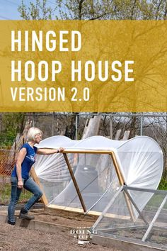 A bigger and better hinged hoop house than the one I built a year ago. Sturdier, easier to construct and easier to take apart. It's the BEST organic pest control around. House 2, Greenhouse Plans, Small Greenhouse, Pepper Plants, Bees And Wasps, Construction, Humming Bird Feeders, Take Apart, Gardens