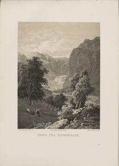 Norge fremstillet i Tegninger - Thomas Fearnley - Parti fra Flomsdalen. jpg (4360×6080)