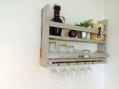 Home made wall bar made by wood