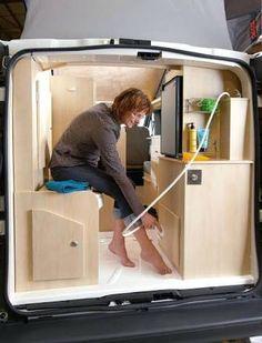 Image result for camper van with bathroom