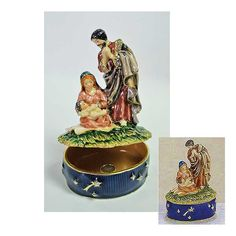 Display your Christian figurines around the house this Christmas. The Nativity Cloisonne Trinket Box is a wonderful piece to add to your collection! printeryhouse.org, #printeryhouse