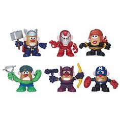 Get ready to mash up the fun superhero-style with Mr. Potato Head as everyone's favorite Avengers characters: Iron Man Marvel's Black Widow Hulk Marvel's Hawkeye Thor and Captain America! From cl...