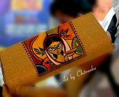 Chitranka Mural Painting, Fabric Painting, Painting & Drawing, Madhubani Art, Madhubani Painting, Rajasthani Art, Lord Ganesha Paintings, Painted Bags, Indian Folk Art