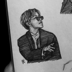 Kpop Drawings, Art Drawings Sketches Simple, Pencil Art Drawings, Bts Art, Boy Sketch, Hope Art, Cartoon Wallpaper Iphone, Sketches Tutorial, Dibujos Cute