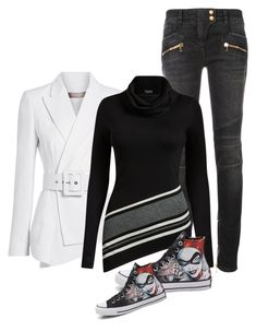 """""""Untitled #516"""" by leehyena on Polyvore featuring Michael Kors, Balmain, Venus and Converse"""