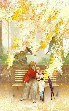 Gintama Wallpaper, Cute Anime Wallpaper, Anime Couples Manga, Cute Anime Couples, Aesthetic Art, Aesthetic Anime, Otaku Anime, Anime Art, Okikagu Doujinshi