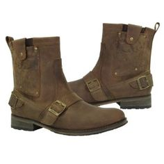 Xelement Mens Brown Side Pocket Buckle Motorcycle Boot   I like the pocket...good spot for a knife $89.95