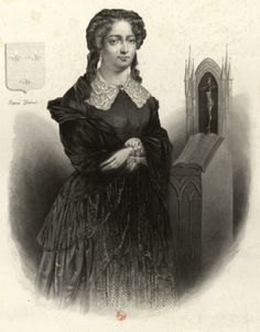 Marie Therese Charlotte, Duchesse D'Angouleme, dressed in mourning.