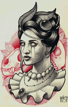 Victorian portrait by kirtatas.deviantart.com on @deviantART #tattoo #tatts