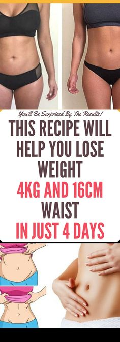 This Recipe Will Help You Lose Weight 4kg and 16 cm Waist in Just 4 Days!