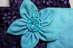Fabric flowers accessory for purse or tote