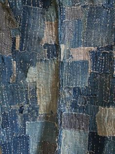 Recycled Jeans Crafts   Recycled denim fabric. Creator unknown, please let us know if this is ...
