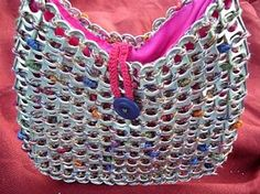 I am making a POP TAB purse!