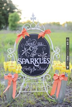sparkler send off station ideas | VIA #WEDDINGPINS.NET
