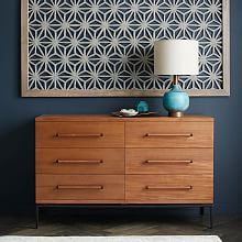 Nash 6-Drawer Dresser - Teak