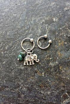 #cbr #captivebeadring #bodyjewelry #bodypiercing #20g #18g #16g #14g #bcr #beadcaptivering #piercing #piercings #stonejewelry #stone #horseshoering #cartilagepiercing #helix #helixpiercing #hoops Elephant - Turquoise Stones - 20g 18g 16g 14g CBR / BCR Bead Captive Ring Horseshoe Piercing Jewelry Hoop ( Helix Tragus Orbital )