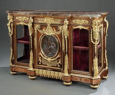 An Important Buffet-Cabinet By Maison Guéret, exhibited in the 1873 Vienna Universelle Exposition, and noted as receiving the highest award, the 'Diploma of Honour'  - Dimensions: H: 56 in / 142 cm W: 77 in / 195 cm D: 26 in / 66 cm