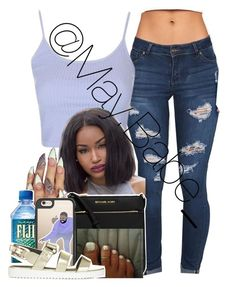 """""""Untitled #181"""" by zeniayah ❤ liked on Polyvore featuring Topshop, MICHAEL Michael Kors and Casetify"""