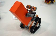 One of the most intriguing robot kits at this year's show, UBTech's AstroBot kit can be built into one of three different characters and programmed using a simple mobile app.  Available this spring for $199, AstroBot can be built as either a treaded robot that looks a bit like Walle, a humanoid-style