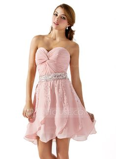 Homecoming Dresses - $139.99 - A-Line/Princess Sweetheart Short/Mini Chiffon Homecoming Dress With Ruffle Beading Sequins (022008142) http://jjshouse.com/A-Line-Princess-Sweetheart-Short-Mini-Chiffon-Homecoming-Dress-With-Ruffle-Beading-Sequins-022008142-g8142