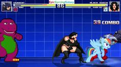 Barney The Dinosaur And U.S. Agent VS Black Queen And Rainbow Dash In A MUGEN Match / Battle / Fight This video showcases Gameplay of Barney The Dinosaur From The Barney & Friends Series And U.S. Agent VS The Black Queen And Rainbow Dash From The My Little Pony Friendship Is Magic Series In A MUGEN Match / Battle / Fight