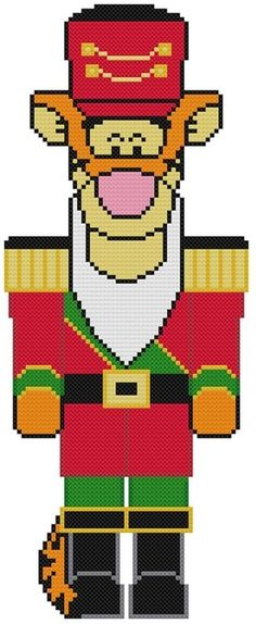 Nutcracker Battallion 1 Plastic Canvas Christmas