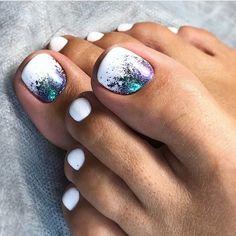 White Toe Nail Designs Idea 48 toe nail designs to keep up with trends White Toe Nail Designs. Here is White Toe Nail Designs Idea for you. White Toe Nail Designs peach nails with white toe nail art and rhinestones design. Toe Nail Color, Toe Nail Art, Nail Colors, Gel Nail, Toe Nail Polish, Pretty Toe Nails, Cute Toe Nails, Pretty Toes, Hair And Nails