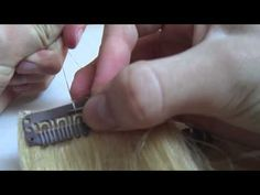 how to sew clips on hair extensions - YouTube