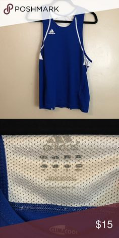 Adidas Climacool Racerback Tank Top Medium Blue Great condition! Smoke free, pet friendly home. adidas Tops Tank Tops