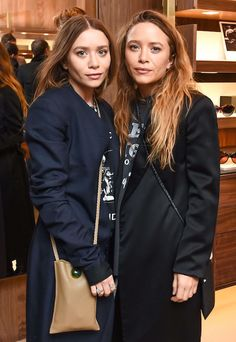 The Olsen Twins Go Navy And Black At The Row X Oliver Peoples Event