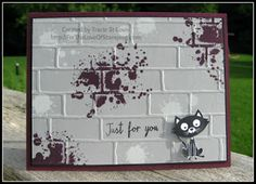 ~For The Love of Stamping~: Brick Wall Embossing Folder