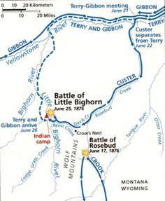 Big Horn Battle Map