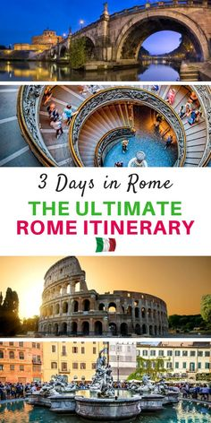 The Perfect Three Days in Rome Itinerary Is 3 days in Rome enough? This is something we are often asked. So we put the question to our Rome expert Karen Worrall, who shares her perfect three-day Rome itinerary. European Vacation, Italy Vacation, European Travel, Italy Trip, Travel English, Italy Honeymoon, Le Vatican, Italy Travel Tips, Rome Travel